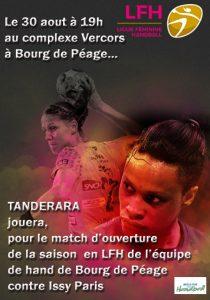 Tanderara va mettre le feu le 30 aout 2017 à Bourg de péage
