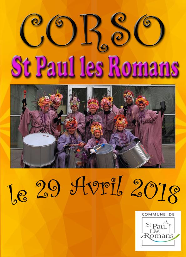 le corso de St Paul les Romans c'est le 29 avril 2018